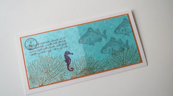 By the Sea Card Holiday Feeling Stempelwalkuere 1