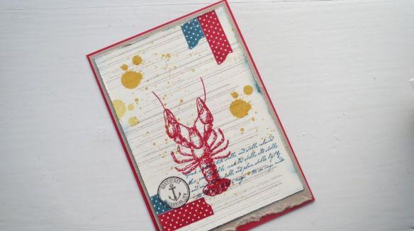 Lobster postcard stempelwalkuere 1