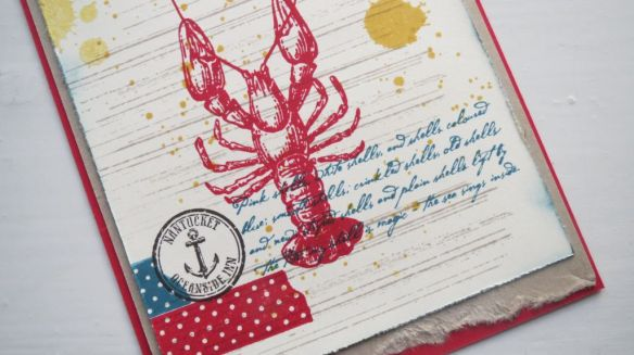 Lobster postcard stempelwalkuere 1a