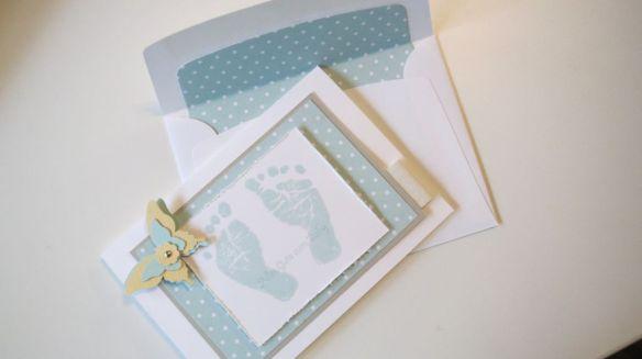Baby Karte 1 Stempelwalkuere