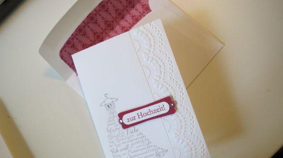 Simple Wedding Karte Stempelwalkuere