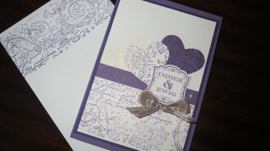 Pflaumenblau Hochzeit Einladung Umschlag1a Stemepelwalkuere