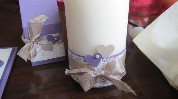 Pflaumenblau Hochzeit Kerzen Gast Geschenke 2aStemepelwalkuere
