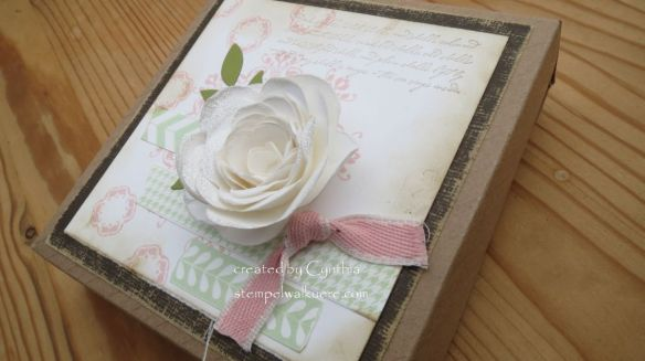 White glitter Rose Box 3