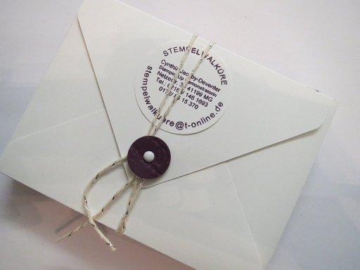 Hochzeits-Einladungen CS G. Geschenk Stempelwalküre 11a