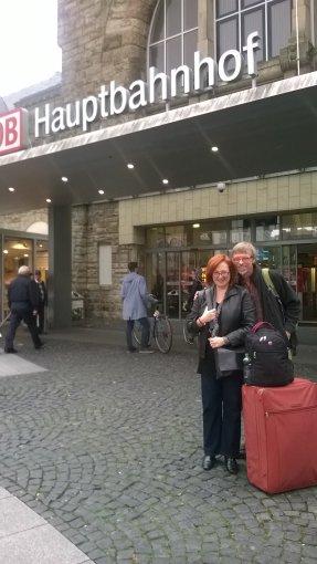 Uwe and I Bahnhof Aachen