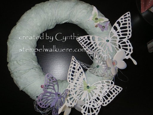 Butterfly Wreath Stempelwalkuere 1
