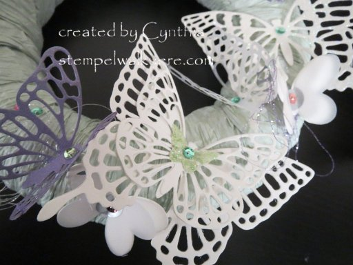 Butterfly Wreath Stempelwalkuere 3