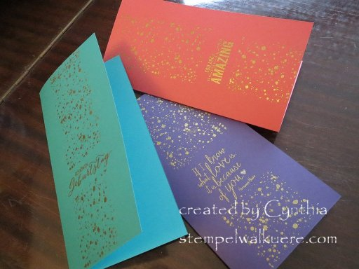 Spotty jewel cards Stempelwalkuere 1