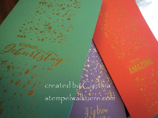 Spotty jewel cards Stempelwalkuere 2