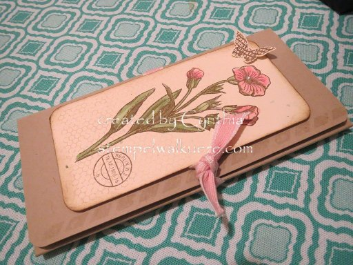 Notebook Schmetterlingsgruß 1 Stempelwalkuere