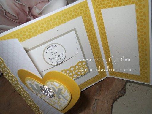 In Auftrag Hochzeitskarte Stempelwalküre 2