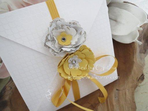 In Auftrag Hochzeitskarte Umschlag Stempelwalküre 1