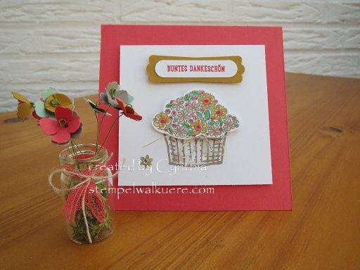 Buntes Dankeschön mini Vase 1 Stempelwalküre
