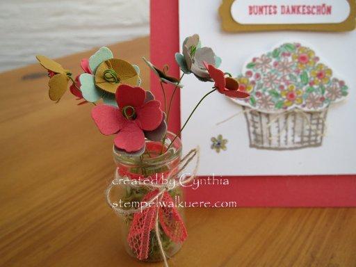Buntes Dankeschön mini Vase 2 Stempelwalküre