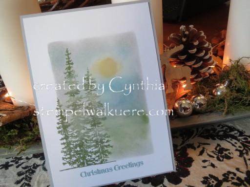 Framelit Card gewischt by Cynthia Stempelwalküre 1