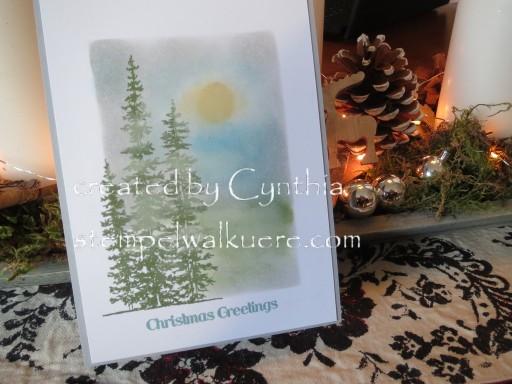 Framelit Card gewischt by Cynthia Stempelwalküre 2