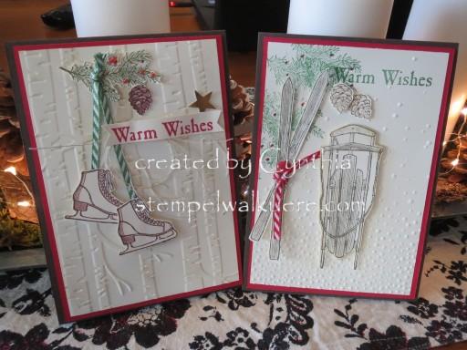 Warm wishes Card Stempelwalküre 1