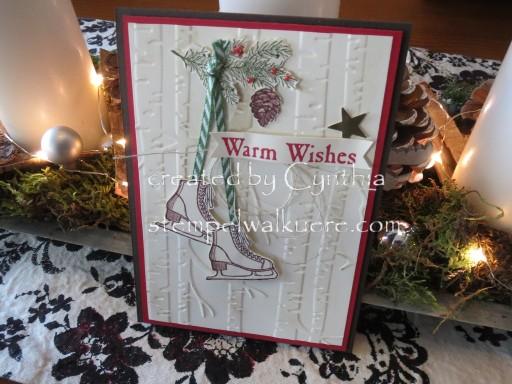 Warm wishes Card Stempelwalküre 2