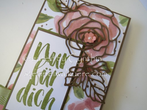Card Box Rose Nur für dich Stemepelwalküre 1