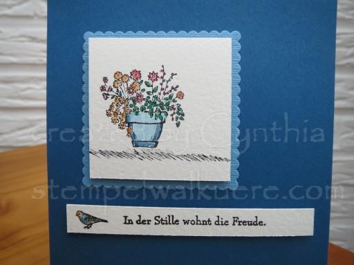 Pot of flowers Stempelwalküre 1a