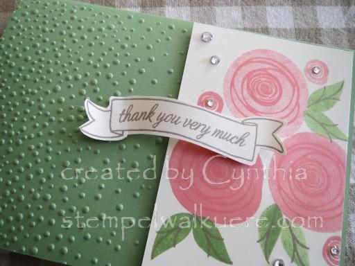 Swirly Flamingo Roses 1c