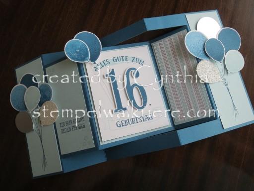 16. Birthday fancy fold Stempelwalküre 1