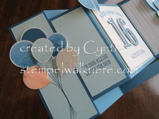16. Birthday fancy fold Stempelwalküre 1a
