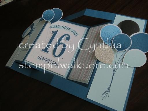 16. Birthday fancy fold Stempelwalküre 1b