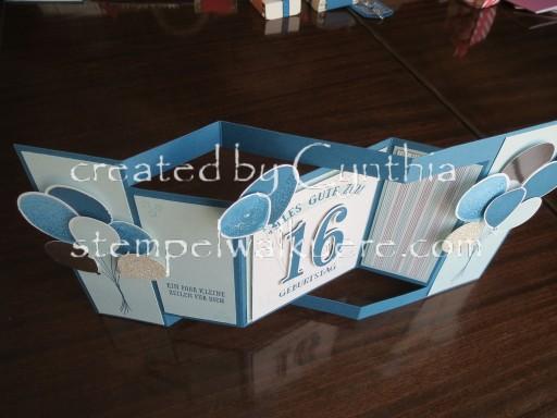 16. Birthday fancy fold Stempelwalküre 1d