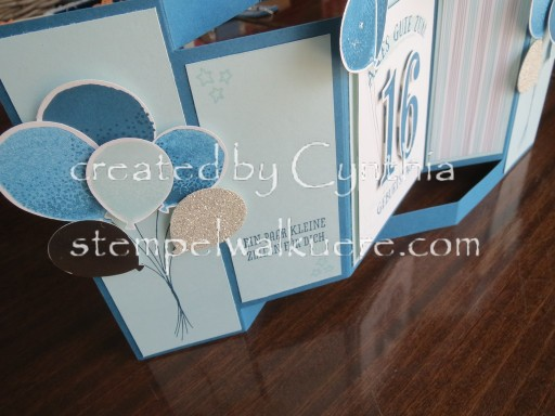 16. Birthday fancy fold Stempelwalküre 1e
