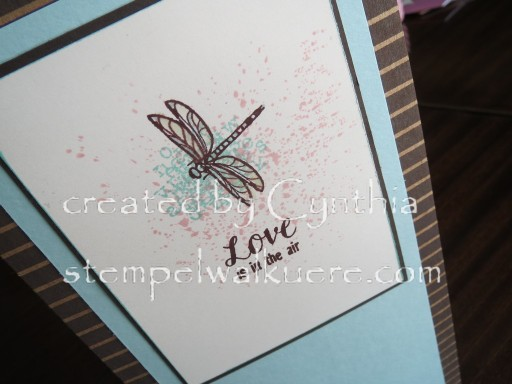 Dragonfly card Stempelwalküre 1
