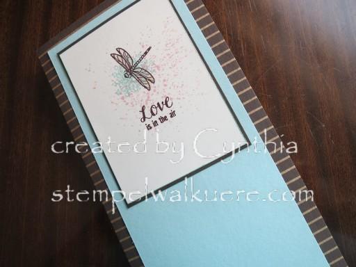 Dragonfly card Stempelwalküre 1b