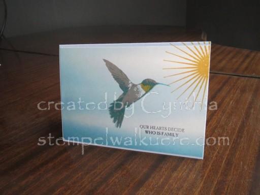 Hummingbird Card Stempelwalküre 1