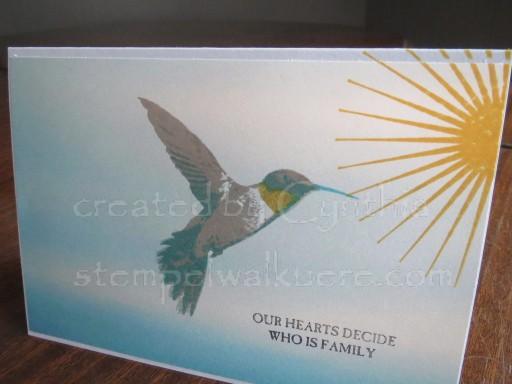 Hummingbird Card Stempelwalküre 1a