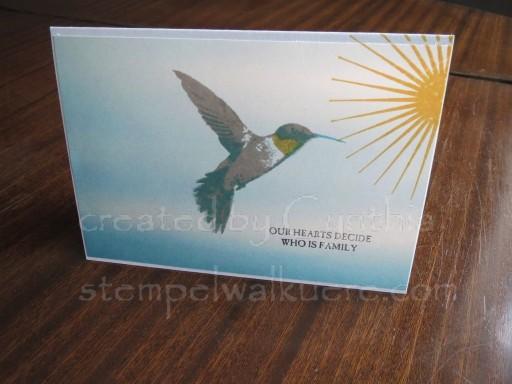 Hummingbird Card Stempelwalküre 1c